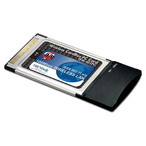 TARJETA RED INALAMBRICA 802.11A/G 108MBPS PCMCIA TRENDNET TEW-501PC