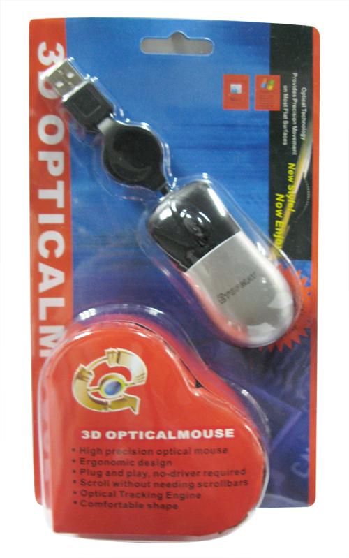 mouse optico mini cable retractil dx etms-210