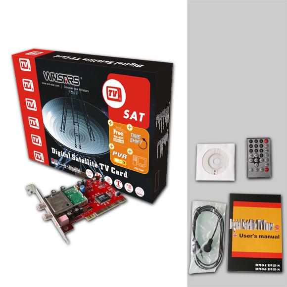 TARJETA SATELLITE PCI DX DVB-DATA ETSI/EN 301 192 STANDARD IP UNICAST AND MULTICAST SDTV/HDTV LNB POWER SUPPLY: 13/18V <400MA DX-WS-DVBS05