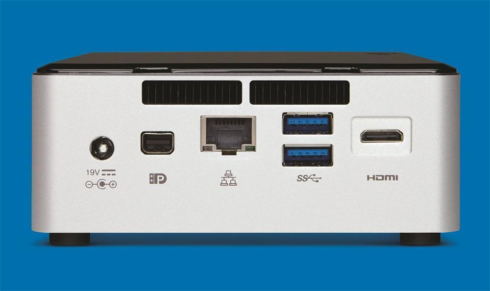 COMPUTADOR INTEL NUC I3-5010U 2DDR3L SODIMM 1600/1333 MAX 16GB M.2 SATA HD 5500 SONIDO 7.1 RED GIGA WIFI 802.11AC BLUETOOTH 4.0 4USB3 MINI-DP MINI-HDMI 1.4A UCFF BOXNUC5I3RYH-936895