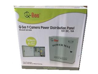 CAJA DISTRIBUIDORA PODER 9 CANALES CAMARA CCTV QSEE QS1009
