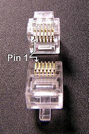 CONECTOR PLASTICO RJ11 CAT3 TELEFONO