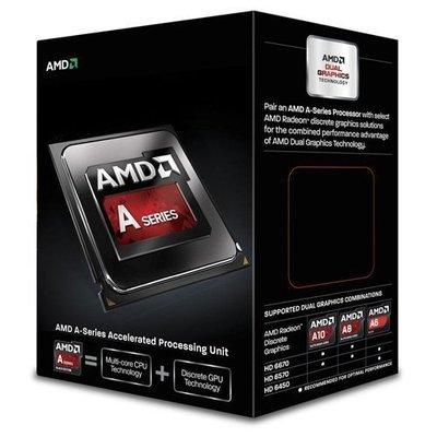 PROCESADOR AMD FM2 A6-6400K RICHLAND DUAL-CORE APU 3900MHZ TURBO 4100MHZ VIDEO RADEON HD 8470D 800MHZ MEMORIA DOBLE CANAL DDR3-1866 64BITS 2THREAD 0.032 MICRON 1MB CACHE L2 65W UNLOCKED CLOCK MULTIPLIER AD640KOKHLBOX A6-640K