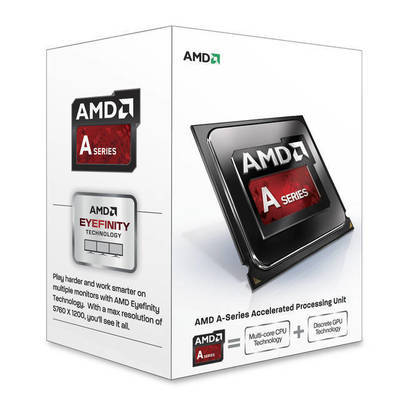 PROCESADOR AMD FM2 A4-6300 RICHLAND DUAL-CORE APU 3.7GHZ TURBO 3.9GHZ VIDEO RADEON HD 83700D 760MHZ MEMORIA DOBLE CANAL DDR3-1333 64BITS 2THREAD 32NM 1MB CACHE L2 65W UNLOCKED CLOCK MULTIPLIER AD6300OKHLBOX