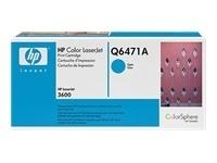 TONER HP Q6471A CYAN CELESTE ORIGINAL HEWLETT PACKARD LJ3600