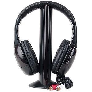 AUDIFONO MICROFONO INALAMBRICO MH2001 5-IN-1 HI-FI S-XBS RADIO MICROFONO 8M REQUIERE 2AAA RCA NO TIENE PUERTO USB