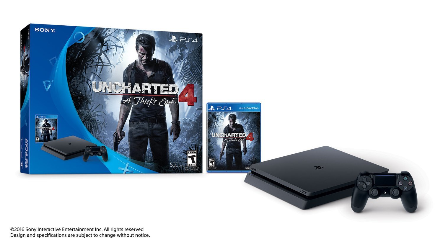 Playstation 4 slim 500gb Uncharted 4: A Thief's End