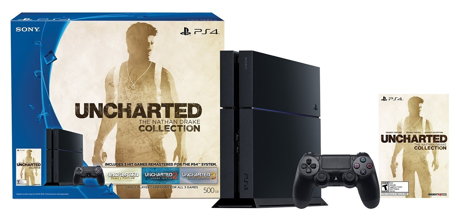 Play Station 4  500Gb  Uncharted: The Nathan Drake Collection
