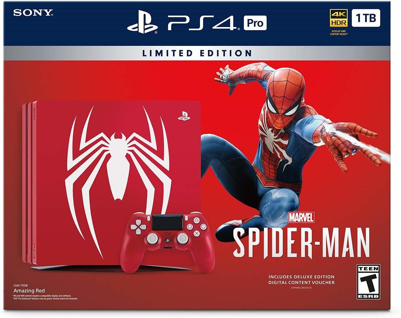 CONSOLA SONY PLAYSTATION 4 PS4 PRO 1TB LIMITED EDITION MARVEL SPIDER-MAN ROJA CUH-7115B 3003194