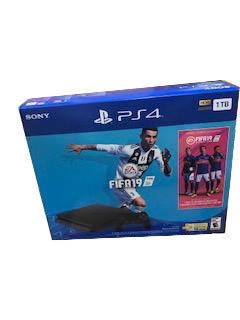 CONSOLA SONY PS4 SLIM 1TB FIFA 2019 CONTROL NEGRO CUH-2215B