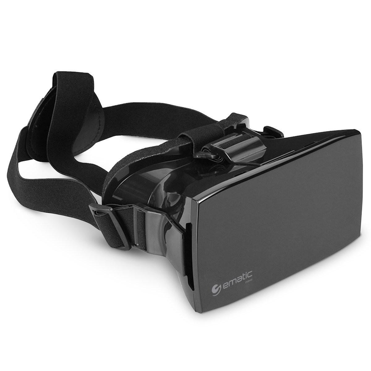HEADSET REALIDAD VIRTUAL 3D EMATIC EVR410 COMPATIBLE ANDROIDE IPHONE SOPORTA CELULARES 4 HASTA 6 PULGADAS