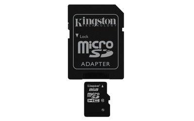 MEMORIA MICRO SDHC SECURE DIGITAL KINGSTON 8GB CLASE 10 SDC10/8GB 10MB/S MAX 30MB/S CON 1 ADAPTADOR SD