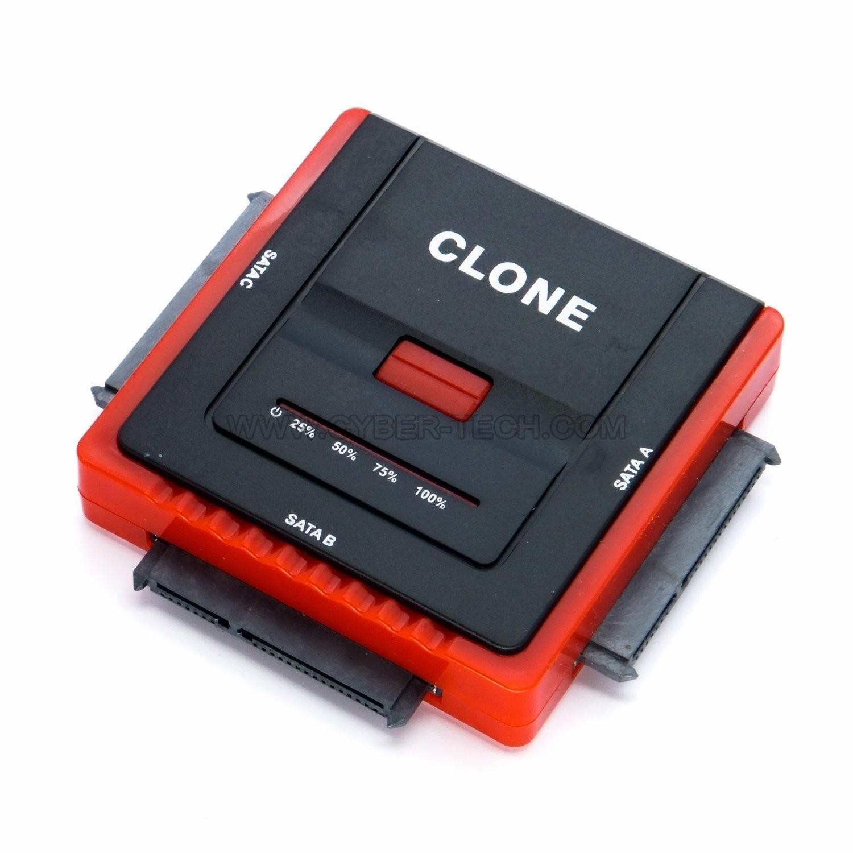 DUPLICADOR CLONADOR DISCOS DUROS SIN USO DE PC USB 3.0/2.0 A SATA INCLUYE CABLE Y BOTON ONE TOUCH CYBERTECH CBL-A888U2-01