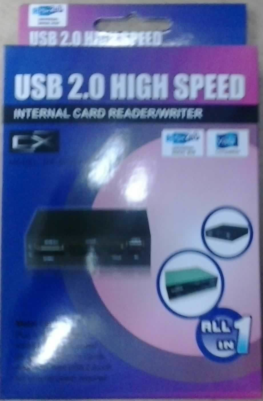 LECTOR MEMORIAS INTERNO 3.5IN ALL-IN-ONE USB2.0 SD SDHC MMC COMPACT FLASH NEGRO DX-AIOSHC88