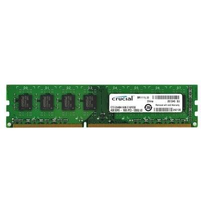MEMORIA DDR3-1600 PC3-12800 1600MHZ CRUCIAL 4GB 240P NON ECC CT51264BA160BJ