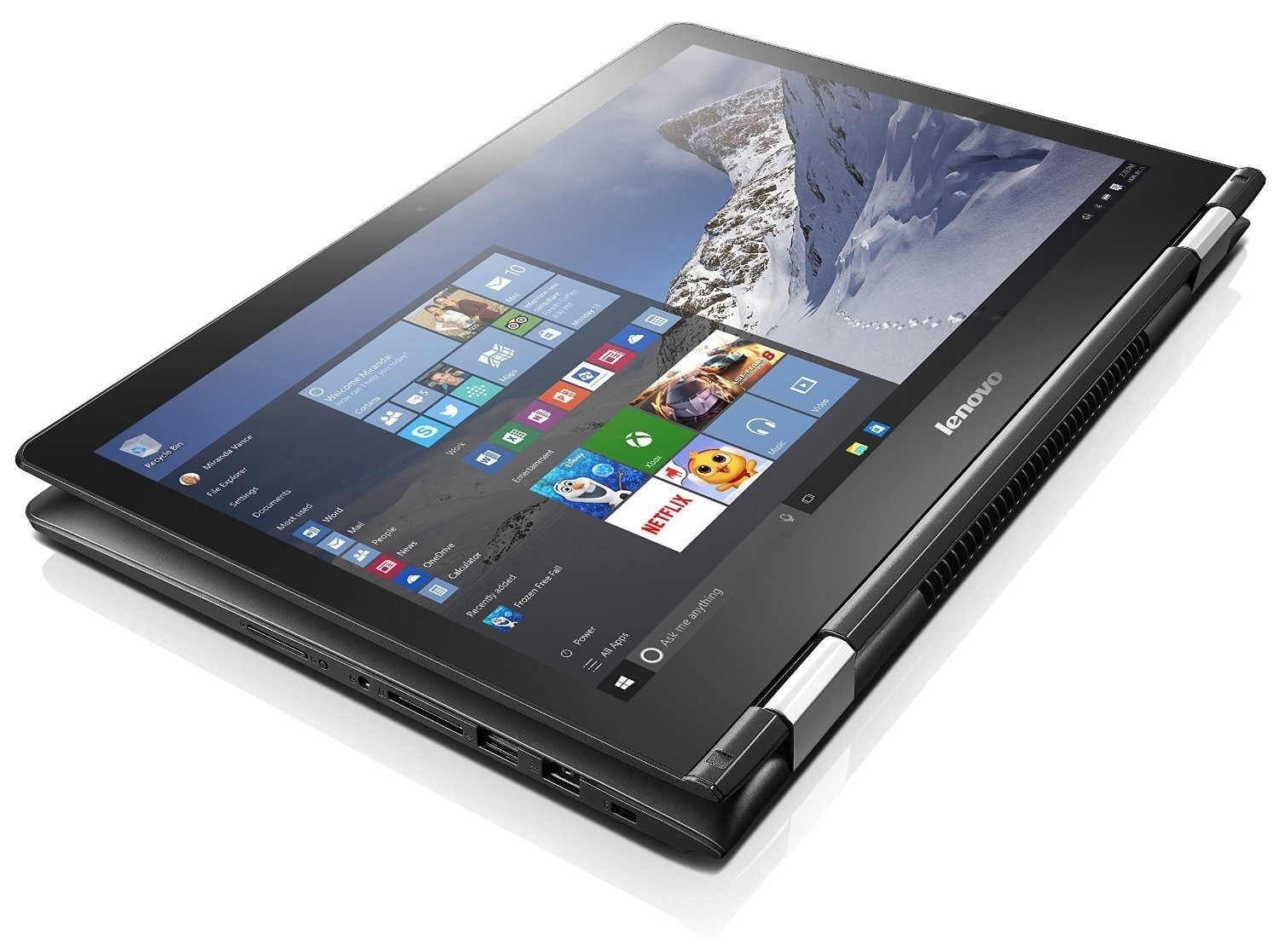 Lenovo FLEX 3 I7-6500U 8Gb 15.6in 1920x1080 TouchScreen 1Tb Nvidia GeForce 940M Win10 Home Negra