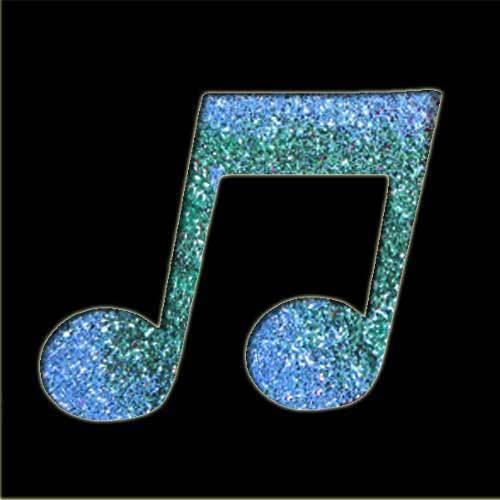 Double Music Note Stencil