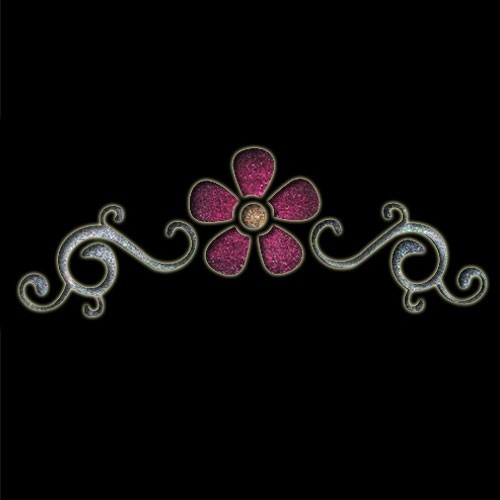 Large Floral Band Stencil