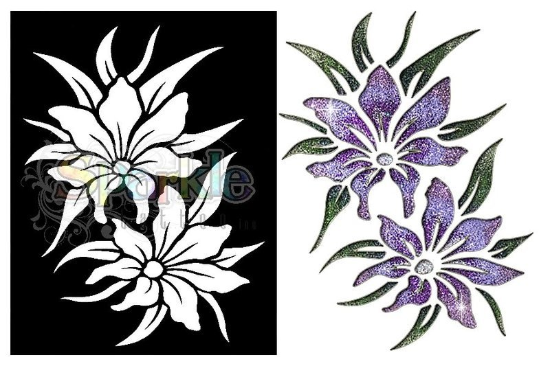 Large Lily Stencil