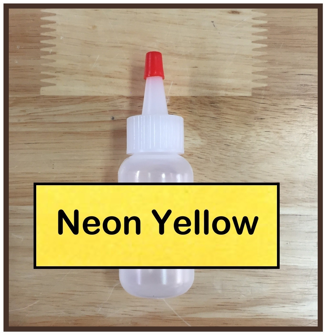 CLEARANCE! Neon Yellow Glitter Poof