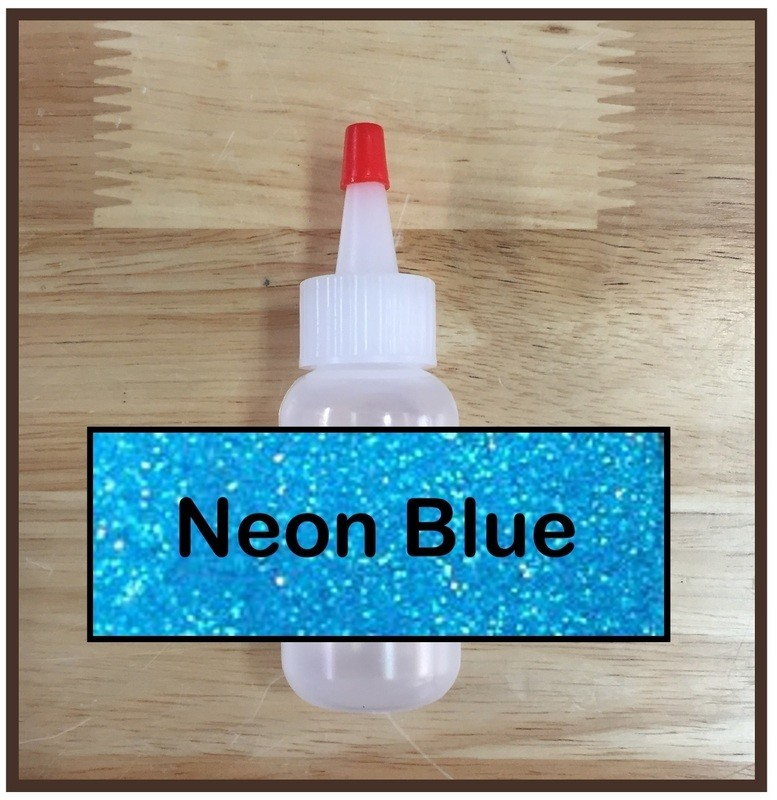 CLEARANCE! Neon Blue Glitter Poof