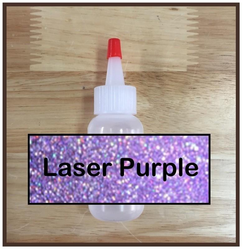 CLEARANCE! Laser Purple Glitter Poof