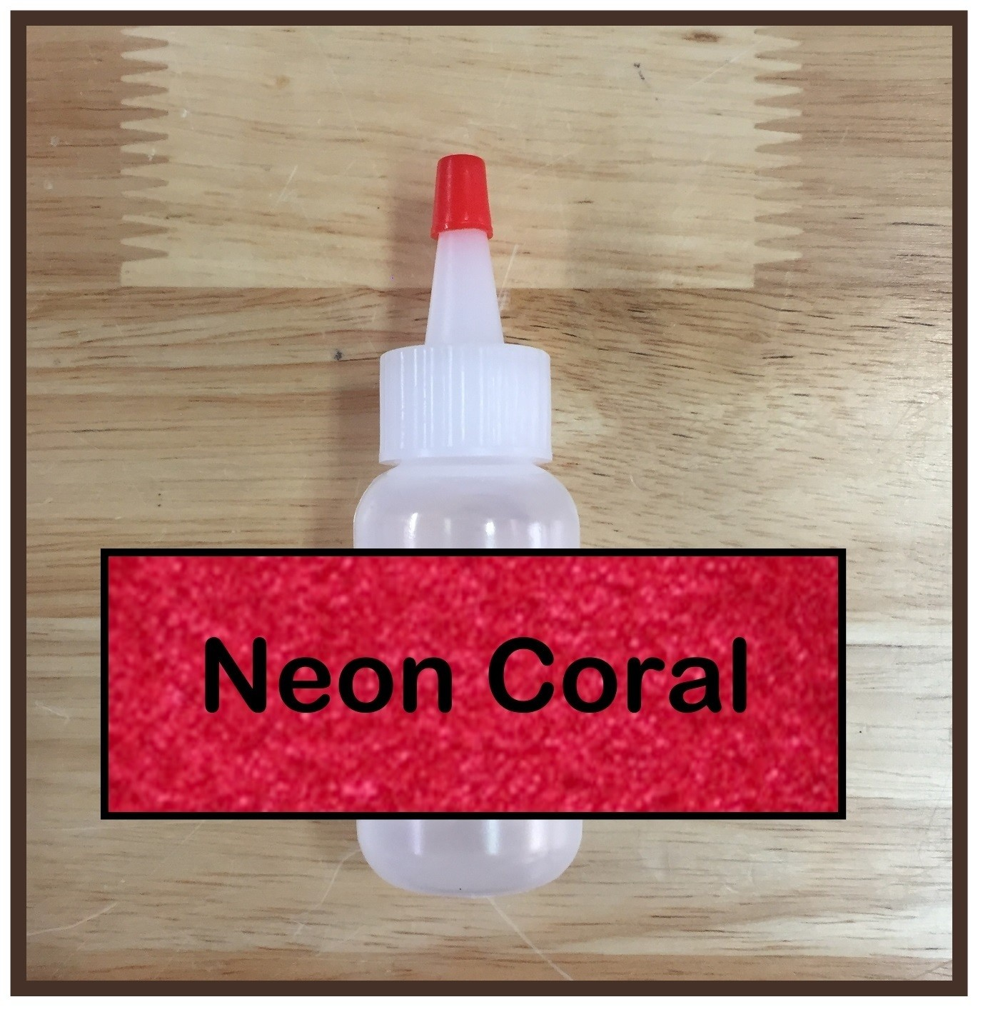 CLEARANCE! Neon Coral Glitter Poof
