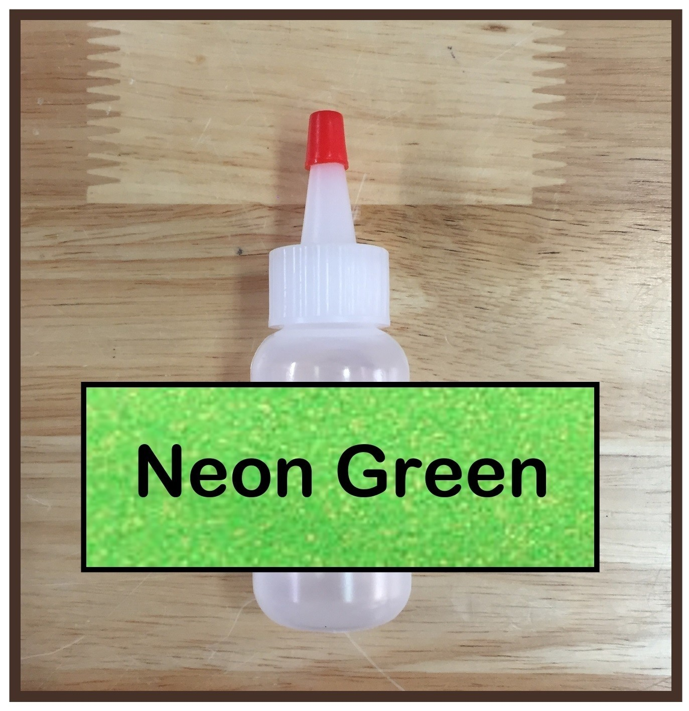 CLEARANCE! Neon Green Glitter Poof