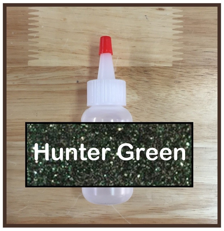 CLEARANCE! Hunter Green Glitter Poof