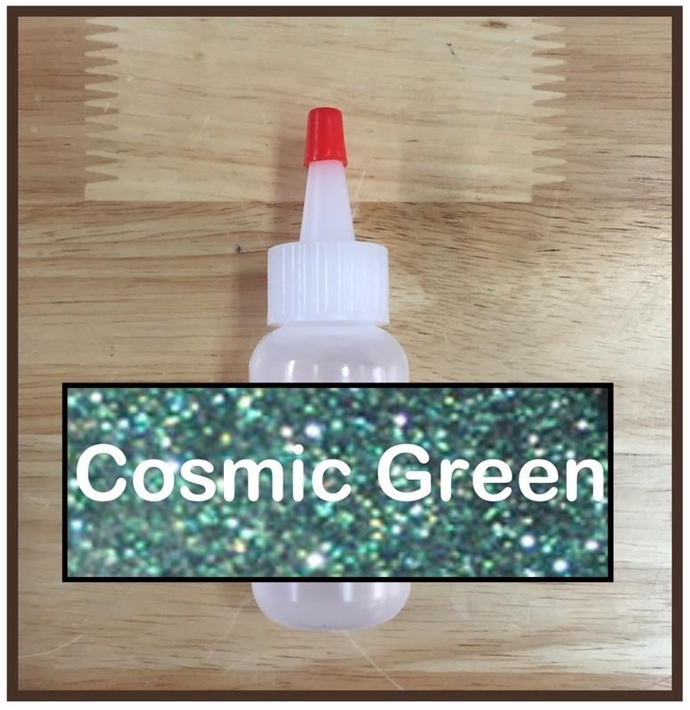 CLEARANCE! Cosmic Green Glitter Poof