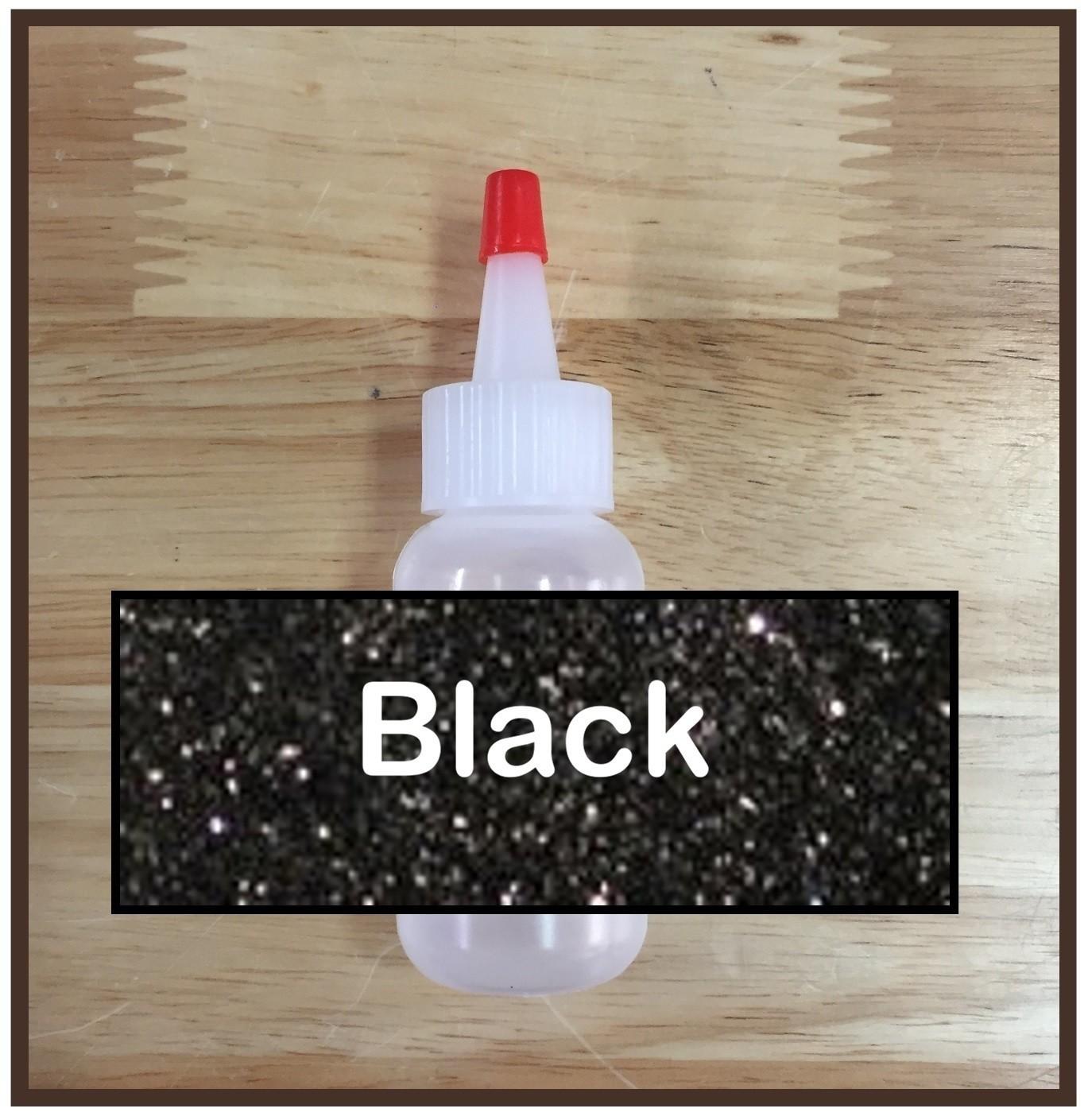 CLEARANCE! Black Glitter Poof