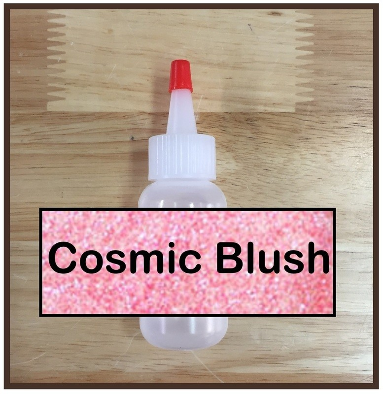 CLEARANCE! Cosmic Blush Glitter Poof