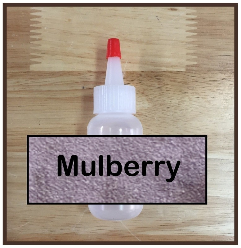 CLEARANCE! Mulberry Glitter Poof