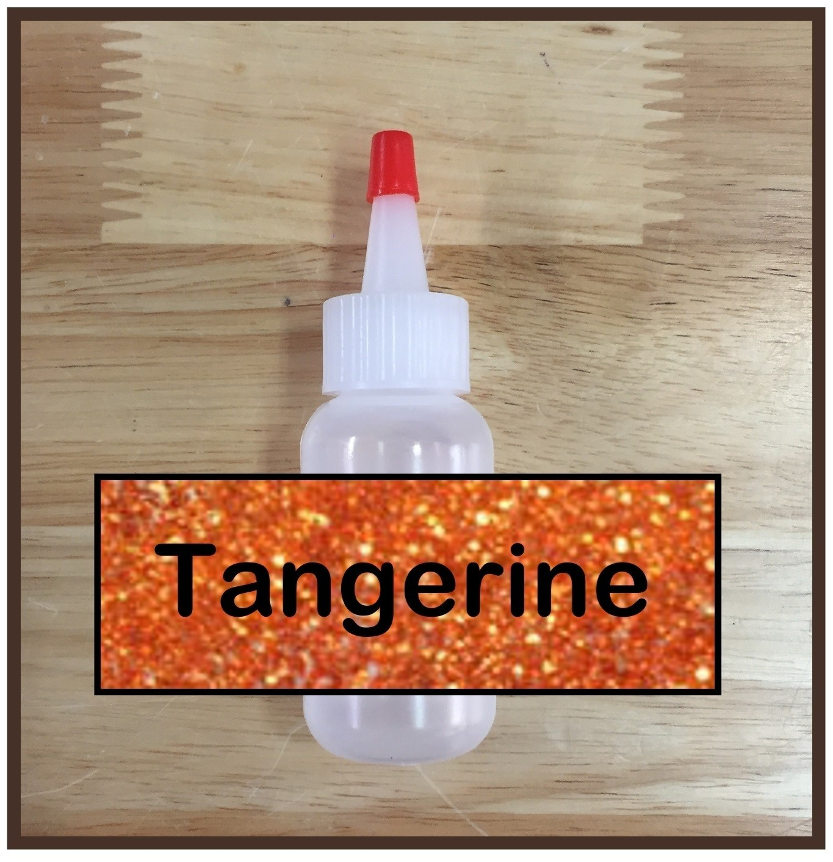 CLEARANCE! Tangerine Glitter Poof