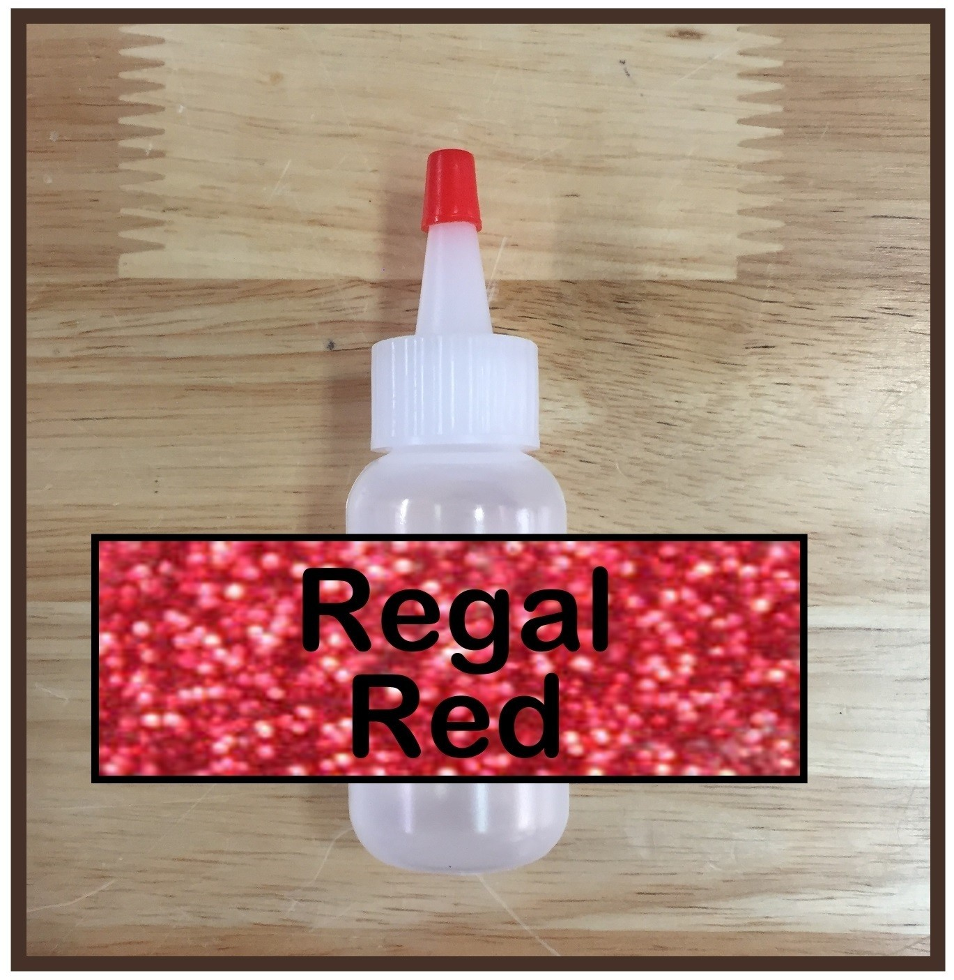 CLEARANCE! Regal Red Glitter Poof