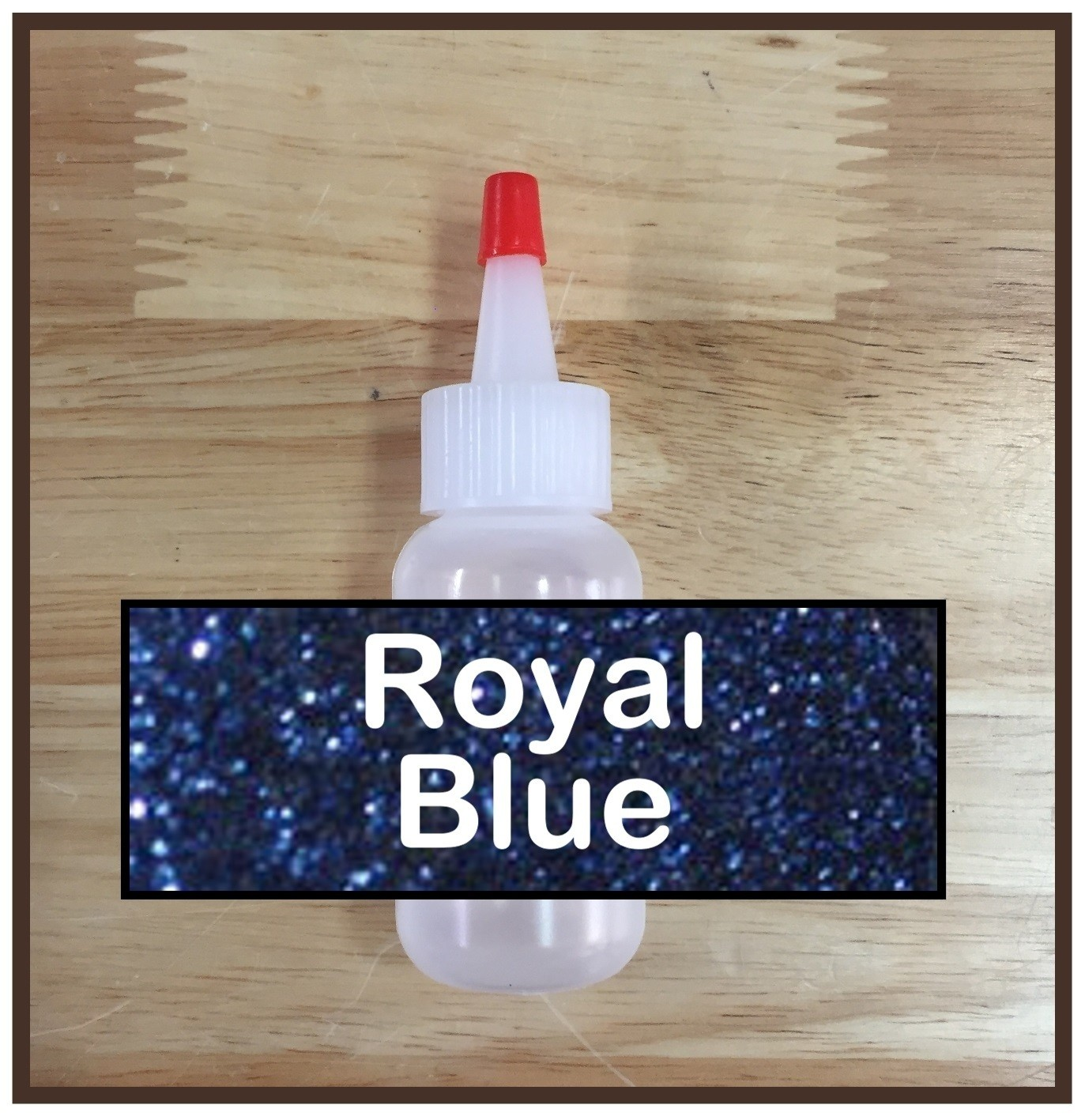 CLEARANCE! Royal Blue Glitter Poof