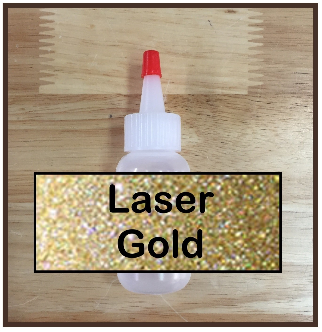 CLEARANCE! Laser Gold Glitter Poof