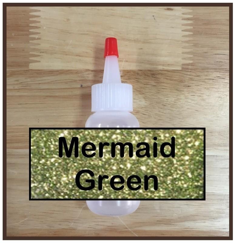 CLEARANCE! Mermaid Green Glitter Poof