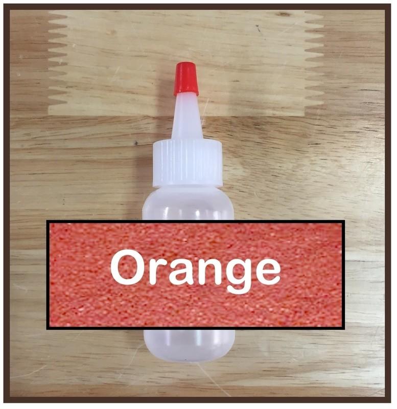 CLEARANCE! Orange Glitter Poof