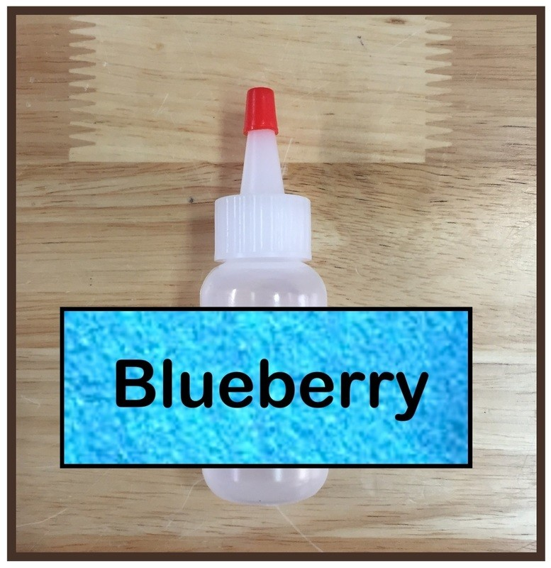CLEARANCE! Blueberry Glitter Poof
