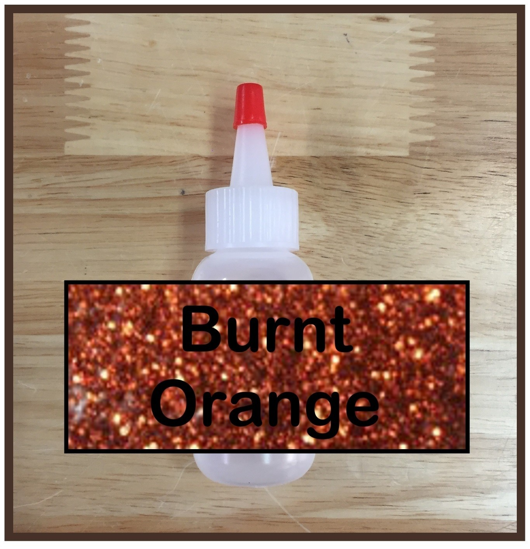 CLEARANCE! Burnt Orange Glitter Poof