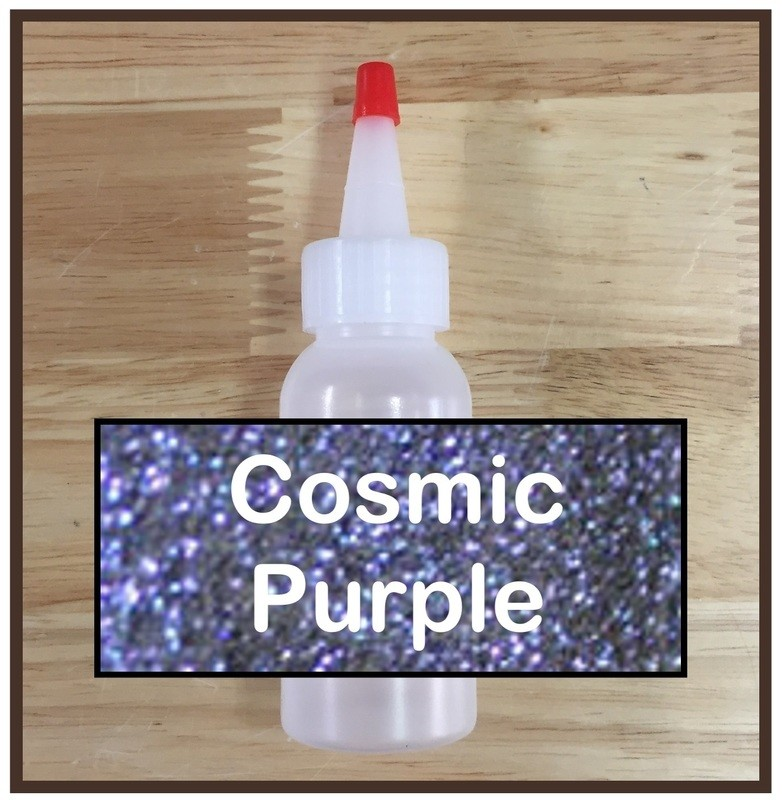 CLEARANCE! Cosmic Purple Glitter Poof