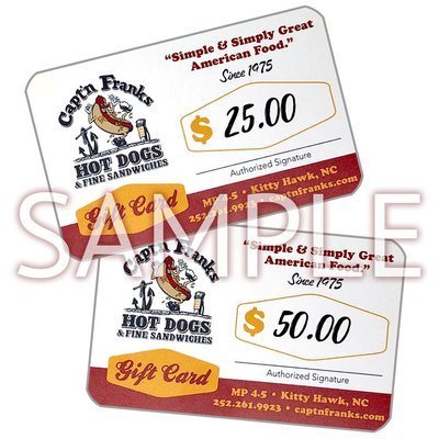 Gift Card- $25.00 or $50.00