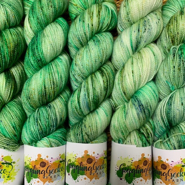 GGY GigglingGecko Socklandia Soxs Yarn Giggling Green