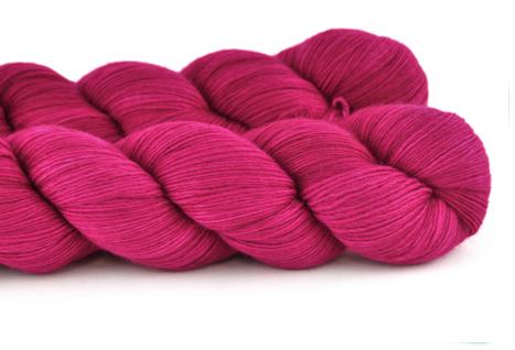 Malabrigo Hand dye Lace Yarn Fucsia #93