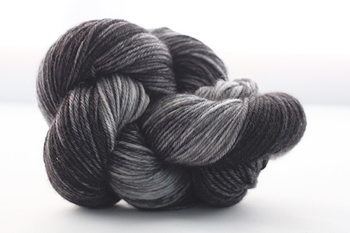 Dream in Color Smooshy Cashmere Blend Sock VCk002 Kettle dyed Black Pearl
