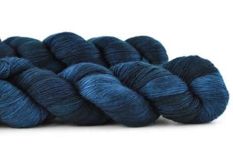 Malabrigo Hand dye Lace Yarn Azul Profundo #150