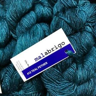 Malabrigo Silky Merino Teal Feather #SM412