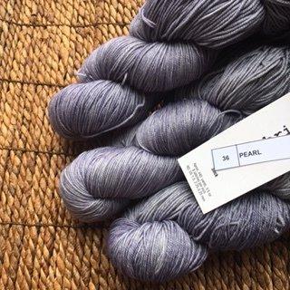 Malabrigo Sock Hand dye  Yarn Pearl #36