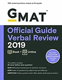 GMAT Official Guide Verbal Review 2019: Book + Online